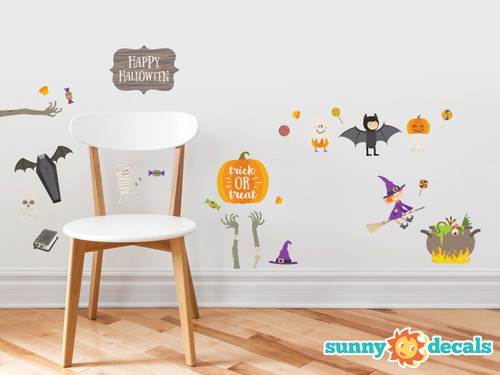 Superior Happy Halloween Fabric Wall Decals   Holiday Trick Or Treat Wall Decor    Non Toxic