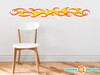 Race Car Flames Fabric Wall Decals - Flame Sticker Wall Decor - Sunny Decals