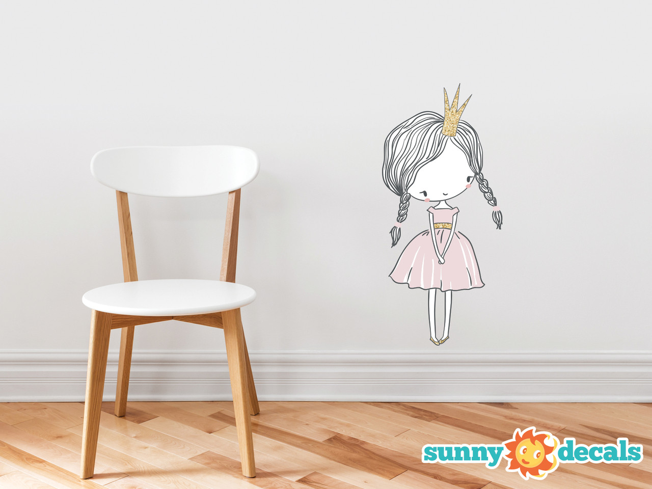 Princess Fabric Wall Decal Hand Drawn Peel And Stick Sunny Decals