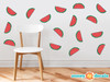 Watermelon Pattern Fabric Wall Decal - Set of 16 Watermelon Fruit Shaped Wall Décor, Perfect for Living Room, Bedroom, Bathroom, Office, Home Decoration