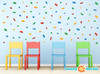 Mini Building Block Bricks Fabric Wall Decals - Sunny Decals