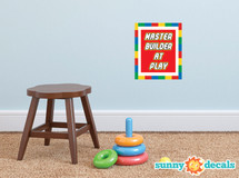 Master Builder at Play Fabric Wall Decal