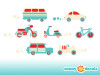 Transportation Wall Decals - Detailed - Sunny Decals