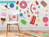 Candy Fabric Wall Decals - Sunny Decals