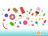 Candy Wall Decals - Detailed - Sunny Decals