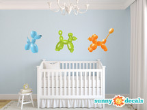 Balloon Animal Wall Decals - Sunny Decals