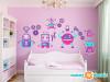 Robot Wall Decals - Jumbo - Girls - Sunny Decals