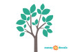 Modern Tree Wall Decal - Emerald - Detailed