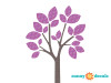 Modern Tree Wall Decal - Purple - Detailed