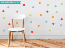 Polka Dots Wall Decals - Rainbow - 2 inch - Sunny Decals