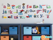 Alphabet Wall Decals for Boys - Sunny Decals