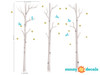 Modern Birch Trees Fabric Wall Decals - Detailed - Sunny Decals