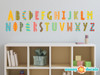 Modern Alphabet Fabric Wall Decals - Rainbow - Sunny Decals