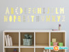 Modern Alphabet Fabric Wall Decals - Yellow Grey White - Sunny Decals