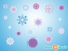 Frozen Inspired Snowflakes Fabric Wall Decals - Detailed - Sunny Decals