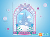 Frozen Inspired Ice Castle Window Fabric Wall Decal - Detailed - Sunny Decals