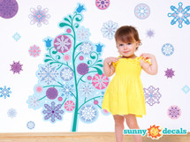 Frozen inspired tree wall decal - Sunny Decals