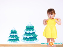 Frozen Inspired Pine Trees Fabric Wall Decals - Sunny Decals