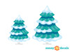 Frozen Inspired Pine Trees Fabric Wall Decals - Detailed - Sunny Decals