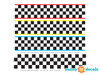 Racing stripe fabric wall decal - color options - detailed - Sunny Decals
