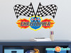 Race Cars Fabric Wall Decal - NASCAR Inspired Race Car Wall Sticker - Sunny Decals