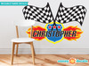 Race Cars Fabric Wall Decal - NASCAR Inspired Race Car Wall Sticker - Jumbo - Sunny Decals