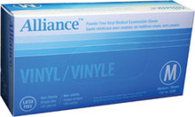 Alliance Powder Free Vinyl Medical Gloves