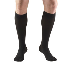 Truform Unisex Compression Hose, Knee High Closed Toe in Black