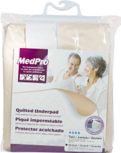 MedPro Quilted Washable Waterproof Underpad with Tuck-In Panels