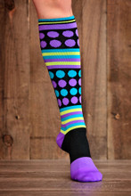 Lunatik Athletiks Rockin' Dot 15-22mmHg Compression Socks, Knee High