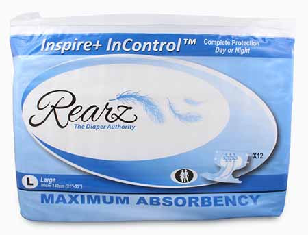 "Rearz Inspire+ ""InControl"" Super Absorbent Adult Diapers"