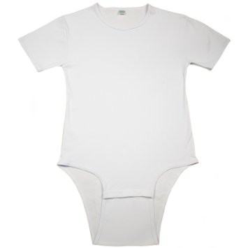 Unisex White Cotton T-Shirt Bodysuit
