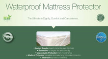 CareActive Waterproof Mattress Protector Flannelette/Vinyl Package