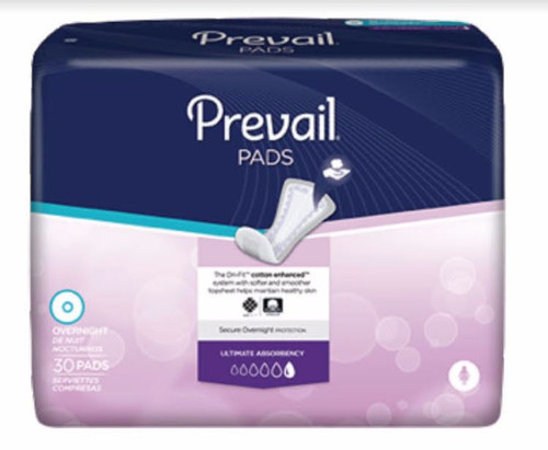 Sample of Prevail Overnight Absorbency Bladder Control Pads