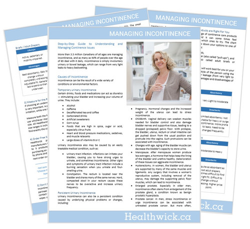 Healthwick Guide to Managing Incontinence - Download