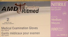 AMD-RITMED NITRILE (5 MIL) GLOVES, POWDER-FREE, LARGE
