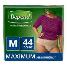 New Depend Flex-Fit for Women Maximum Absorbency Underwear
