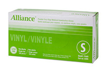 Alliance Powder Free Vinyl Medical Gloves - small