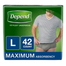 Depend Flex-Fit for Men Maximum Absorbency Underwear L 42pk