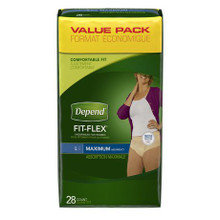 Depend Fit-Flex Incontinence Underwear for Women, Maximum Absorbency L28