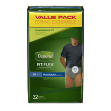 Depend Flex-Fit for Men Maximum Absorbency Underwear S/M 32pk