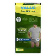 Depend Flex-Fit for Men Maximum Absorbency Underwear L  28pk