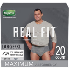 Depend Real-Fit for Men Underwear