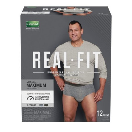Depend Real-Fit for Men 12-Count Underwear