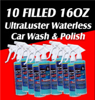 QTY 10 16oz Triggers of UltraLuster waterless wash and polish