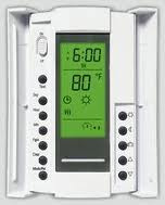 aube by Honeywell Thermostat model TH115-AF-240S (doors open)