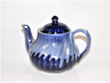 small fluted tea pot 2 cup size