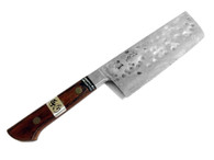 GOKOO Nakiri Tsuchime Carbon Steel Cladded in Stainless 165mm