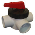 Davey Spa Quip 3 Way 50mm Teflon Valve