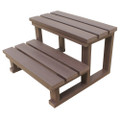 Two tier spa steps - chocolate colour